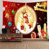 Wall Hanging Art Christmas Baubles Snowman Print Tapestry - COLORI MISTI