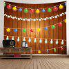 Wall Hanging Decor Christmas String Lights Print Tapestry - COLORMIX