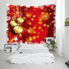 Wall Hanging Art Christmas Baubles Dot Print Tapestry - RED