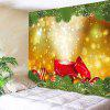 Wall Hanging Decor Christmas Gift Baubles Print Tapestry - AMARELO