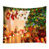 Wall Hanging Art Christmas Tree Gift Stockings Print Tapestry - COLORMIX