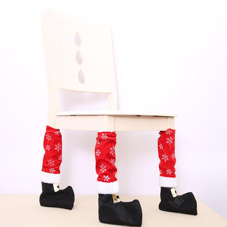 Creative Christmas Boot Style Table Chair Leg Cover 4PCS