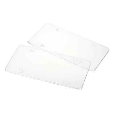 Flat Surface Cover Shield License Plate Frame 2pcs