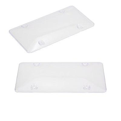 Convex Surface Cover Shield License Plate Frame 2pcs