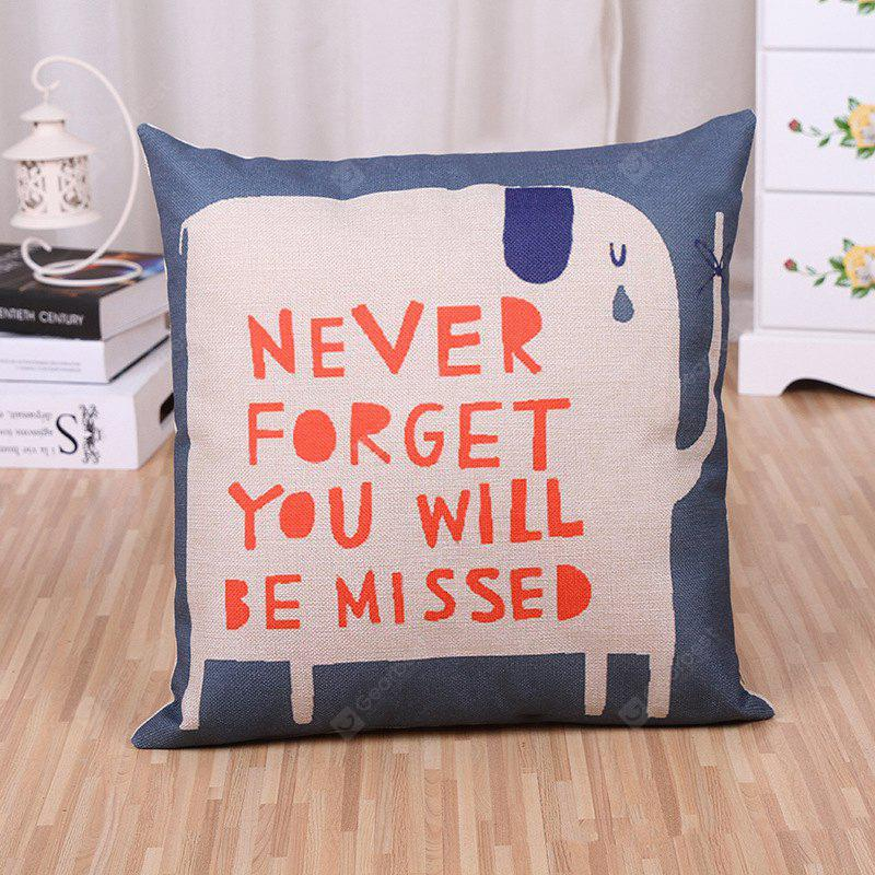 LAIMA Printed Square Linen Cushion Throw Pillow Case