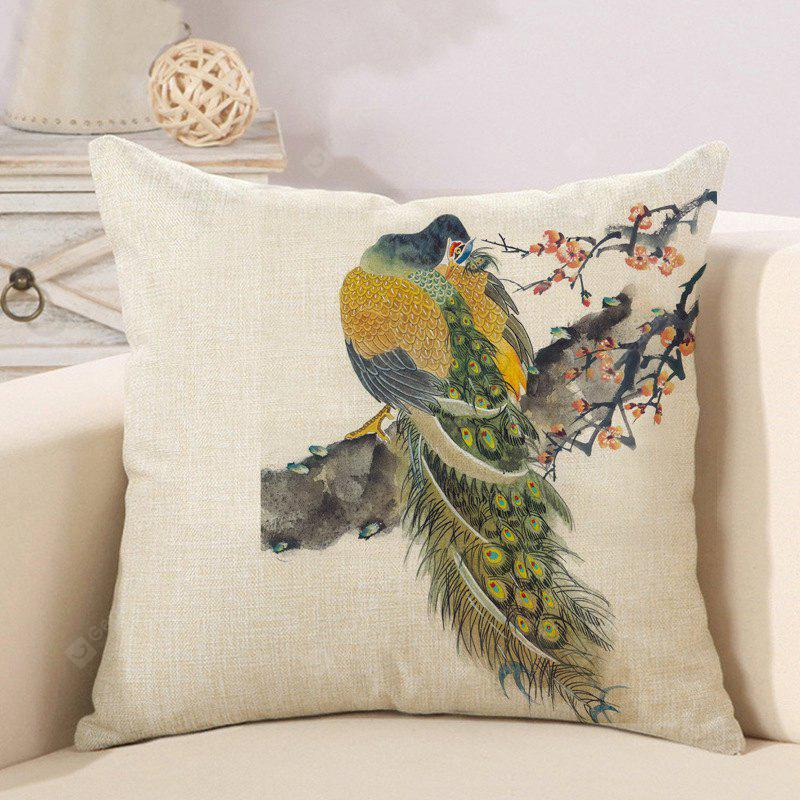 LAIMA BZ183 - 1 Vintage Peacock Pillow Case