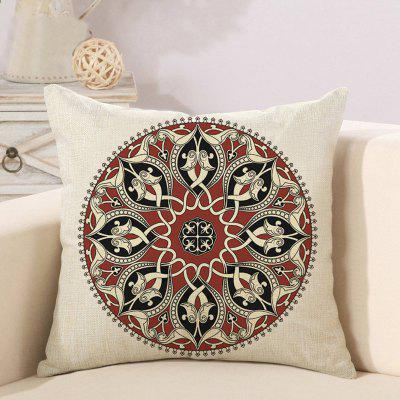 LAIMA BZ187 - 3 Retro Geometric Floral Print Pillow Case