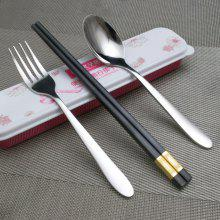 MCYH LG81 Portable Tableware Stainless Steel Chopsticks Spoon