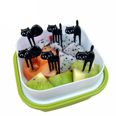 Black Cat Style Fruit Fork 6PCS