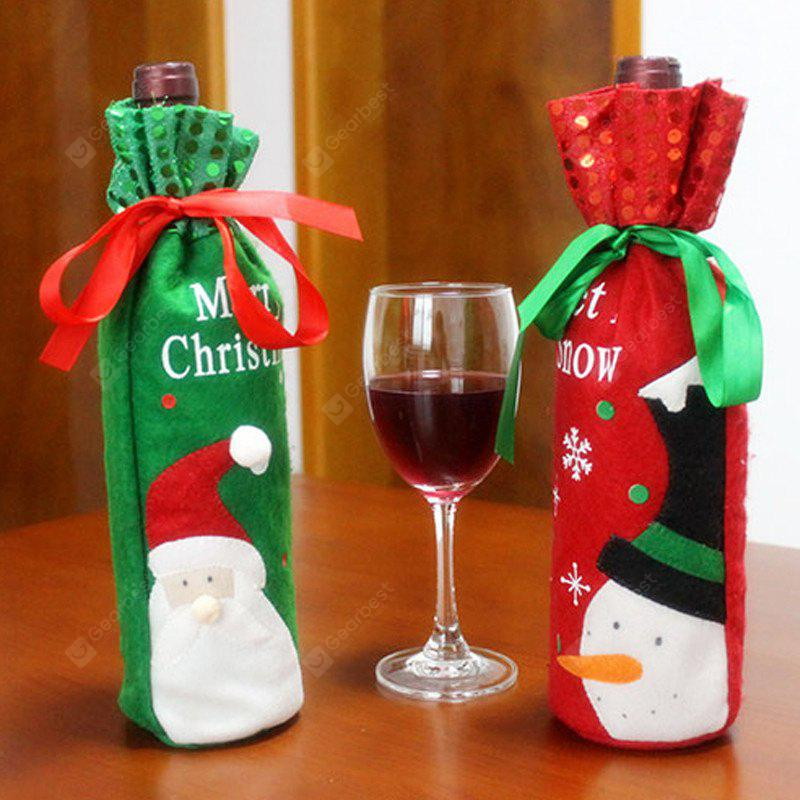 MCYH HY184 Christmas Wine Bottle Decoration Cloth 1pc