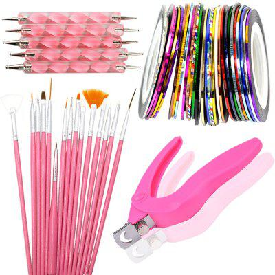Professional Nail Decoration Tool Brush 1 Set