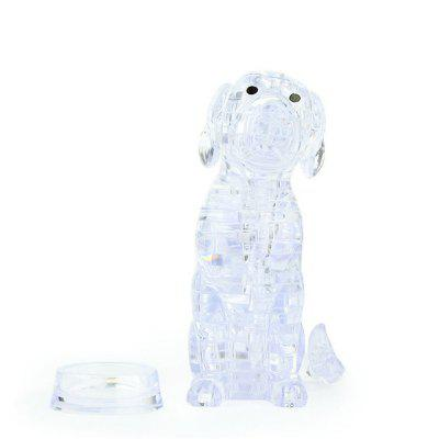 DIY 3D Hound Model Crystal Plastic Building Blocks 1 Set
