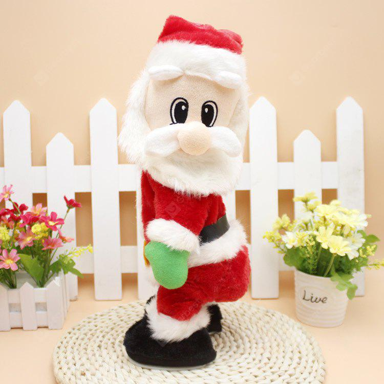 Electric Hip Shaking Santa Claus for Christmas Decoration