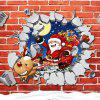 MCYH HY412 Santa Claus Wall Sticker for Decoration - COLORMIX
