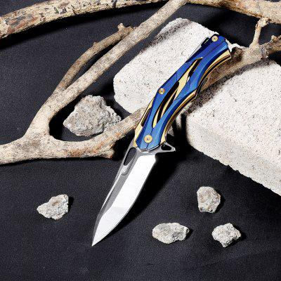 440C Stainless Steel Hollow Versatile Liner Lock Knife enlan ew091 frame lock pocket knife hollow out handle