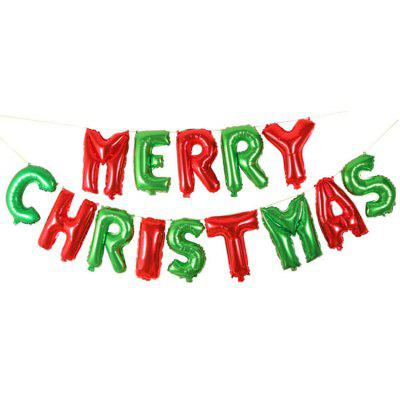 merry christmas letters aluminum foil balloons decorations