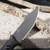 D2 Multifunctional Straight Fixed Blade Knife - SILVER