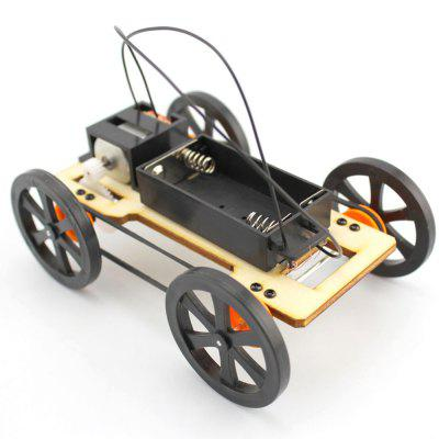Creative Educational DIY Set Four-wheel Wooden Car Model