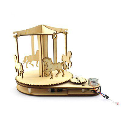 Creative DIY Light Control Wooden Carousel