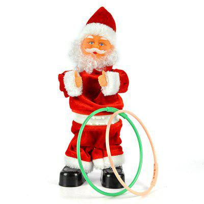 Santa Claus Hula Hoop Dancer Toy Musical Christmas Gift