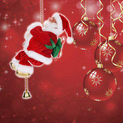 Musical Climbing Santa Claus on A Chain Christmas Decoration