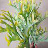 LmDec Artificial Flower Yellow Antlers Grass 1PC - GREEN AND YELLOW