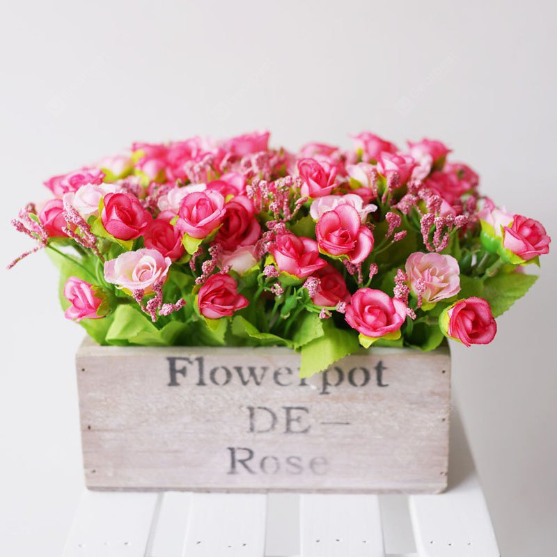 LmDec Artificial Flower with White Pot for Decoration