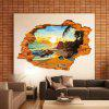 Sunset Beach Hole 3D Effect Wall Sticker - SUN YELLOW