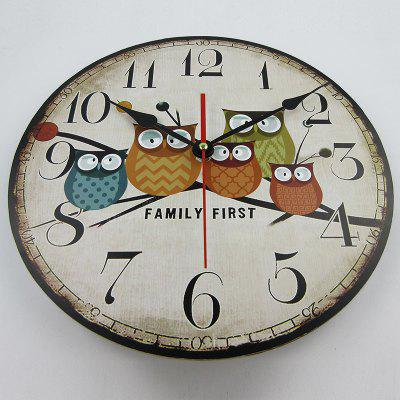 Timelike T9562 Retro European Style Owl Wooden ClockClocks<br>Timelike T9562 Retro European Style Owl Wooden Clock<br><br>Brand: Timelike<br>Model: T9562<br>Package Contents: 1 x Clock<br>Package size (L x W x H): 33.00 x 33.00 x 8.00 cm / 12.99 x 12.99 x 3.15 inches<br>Package weight: 0.6000 kg<br>Product size (L x W x H): 30.00 x 30.00 x 4.50 cm / 11.81 x 11.81 x 1.77 inches<br>Product weight: 0.5000 kg<br>Shape: Round<br>Style: Retro<br>Type: Wall Clock