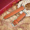 Genuine Leather Pin Buckle Watch Band for iWatch 38MM - BROWN