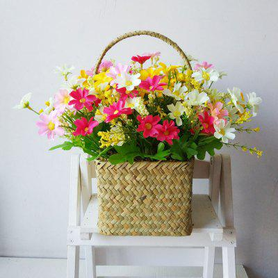 LmDec Modern Daisy Artificial Flower with Basket