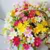 LmDec Modern Daisy Artificial Flower with Basket - COLORMIX
