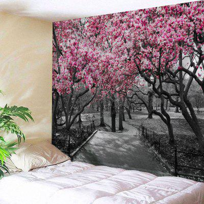 Wall Hanging Art Flower Trees Path Print Tapestry