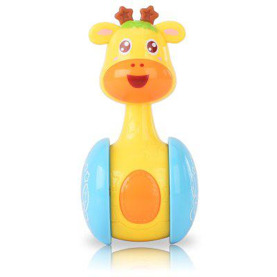 Early Education Toy Deer Style Tumbler Rattle for Baby