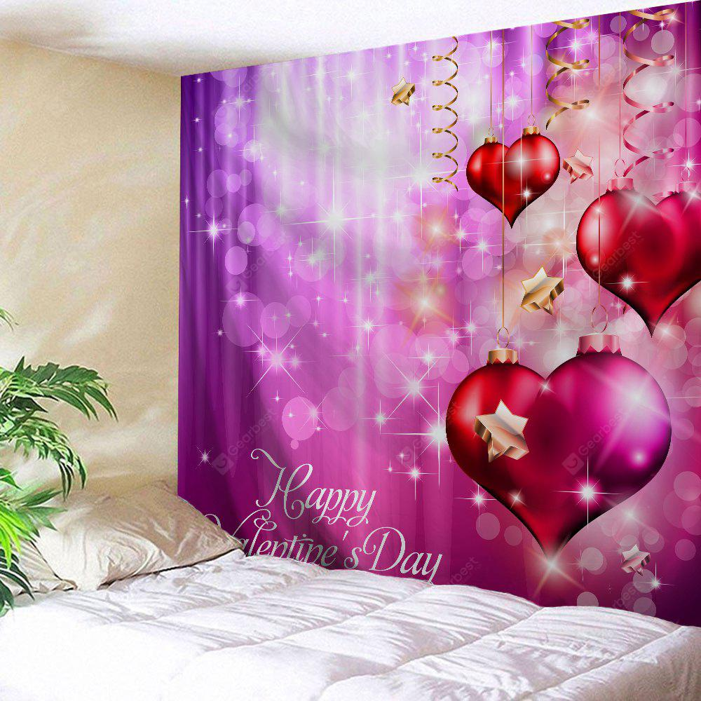 Valentine's Day Hearts Print Tapestry Wall Hanging Art