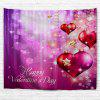 Valentine's Day Hearts Print Tapestry Wall Hanging Art - COLORMIX
