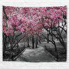 Wall Hanging Art Flower Trees Path Print Tapestry - COLORMIX