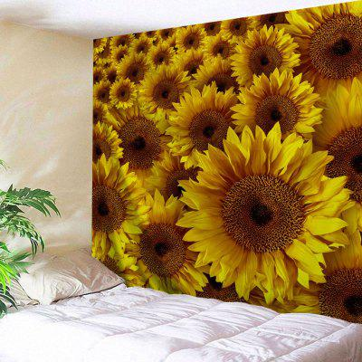 Sunflowers Pattern Wall Decor Tapestry