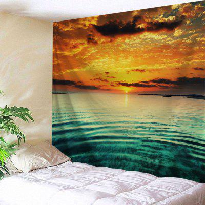 Sea Sunset Print Wall Hanging Tapestry