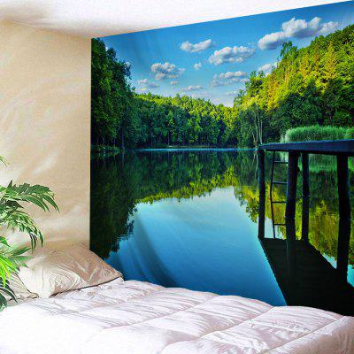 Forest Lake Water Print Wall Hanging Tapestry