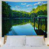 Forest Lake Water Print Wall Hanging Tapestry - COLORMIX