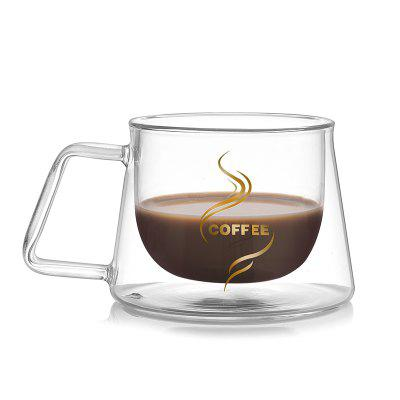 200ml Double-wall Insulated Glass Coffee Tea Mug Cup