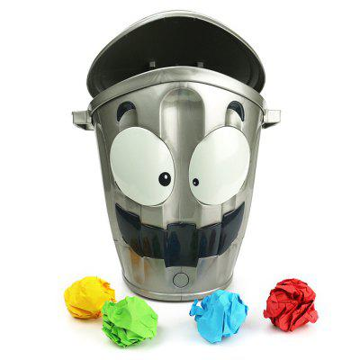 Creative Crazy Garbage Can for Indoor Shooting Game Toy