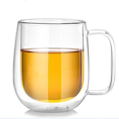 250ml Double-wall Insulated Glass Coffee Tea Beer Mug Cup