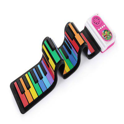 iWord Kids Rainbow 49-key Portable Hand Roll Piano
