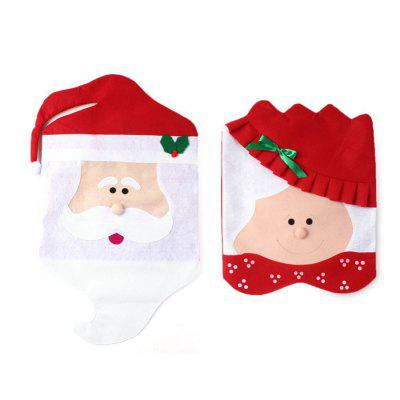 Christmas Festival Decoration Chair Cover Santa Claus 2pcs