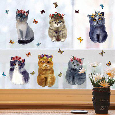 DIY Removable Cute Cats Decal Wallpaper Wall Sticker