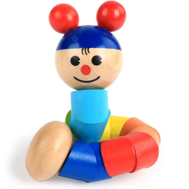 Wooden Puzzle Toy Twisting Girl for Children