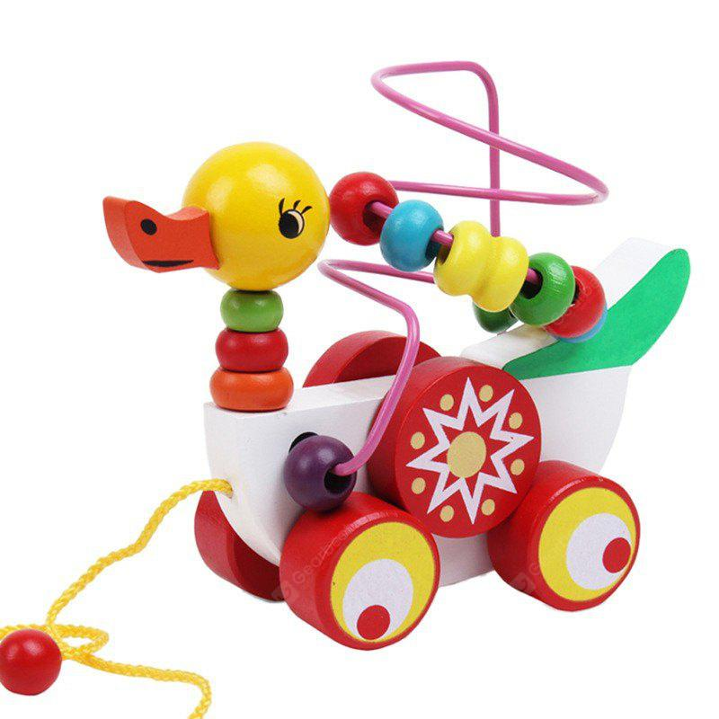 Wooden Puzzle Toy Duck Car for Children