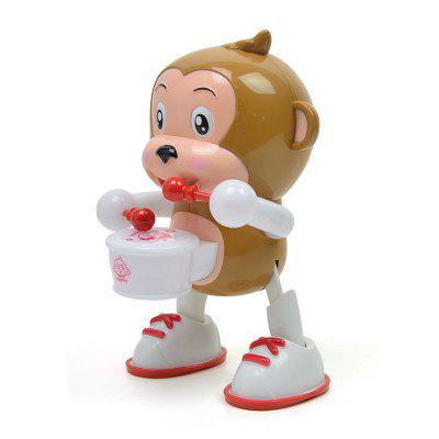 Funny Light Music Dancing Monkey Drum Toy